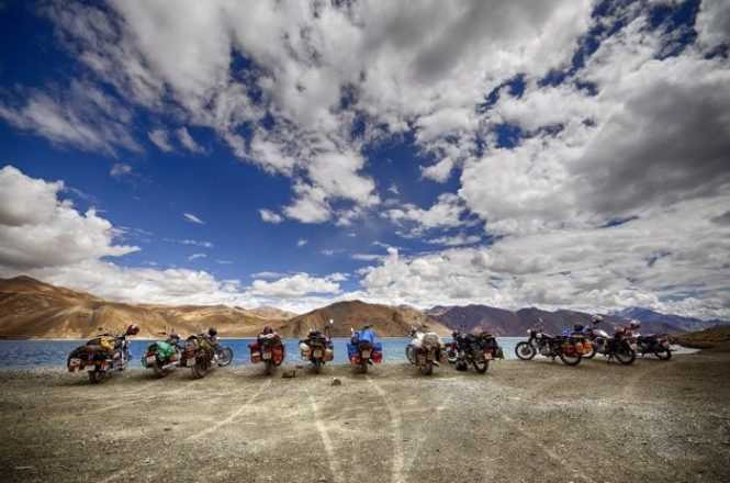 Riding through Ladakh