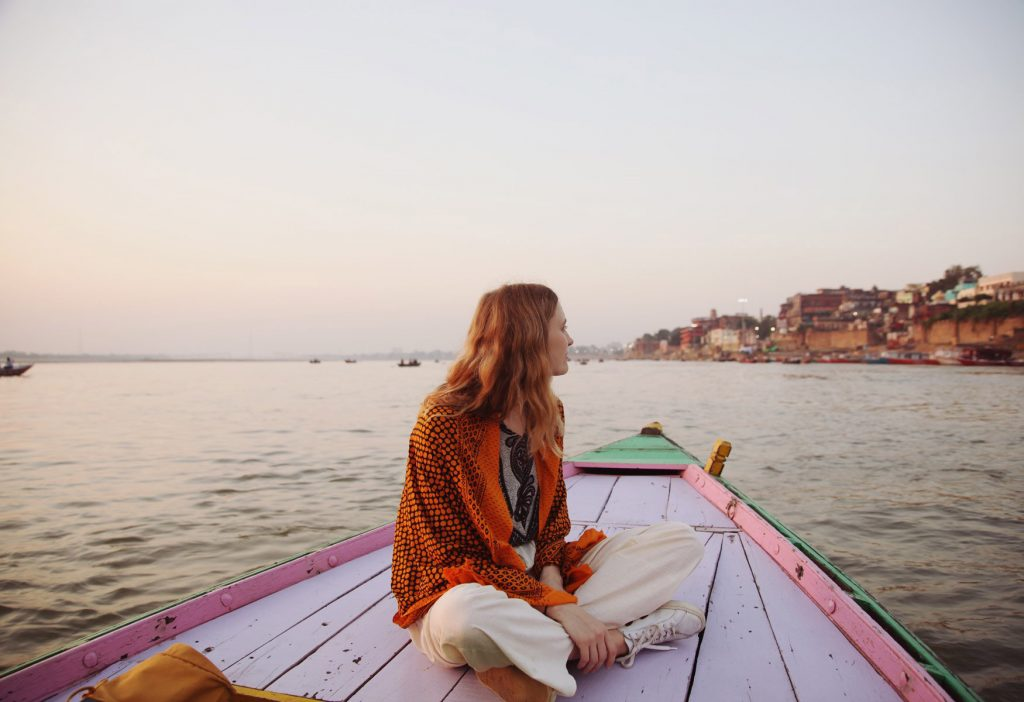 Women Traveller in Rishikesh